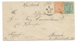 DA PADOVA A STEINACH - 2.4.1880 - VIA TIROLO. - 1878-00 Humberto I
