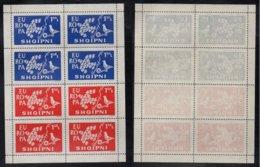 EUROPA CEPT - ALBANIE / 1961 BLOC DE 8 VIGNETTES DE PROPAGANDE ANTI EUROPE ** / RARE (ref 3824) - Europa-CEPT