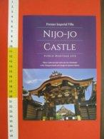 Z.08 JAPAN GIAPPONE DEPLIANT TURISMO 2019 KYOTO NIJO-JO CASTLE IMPERIAL VILLA - ENGLISH - Dépliants Turistici