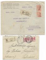 DA MILANO - 12.1.1929 E DA PESARO - 4.1.1926. - 1900-44 Victor Emmanuel III