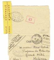 DAGUIN ALGERIE BLIDA  1943   JE FAIS LA GUERRE   Lettre Ouverte Par L'autorité De Contrôle Correspondance Lisible   K64 - Algérie (1924-1962)