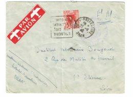 DAGUIN ALGERIE Bloc Texte Monté à L'envers   Trace De Foulage     K65 - Algérie (1924-1962)