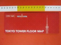 Z.08 JAPAN GIAPPONE DEPLIANT TURISMO 2019 - TOKYO TOWER FLOOR MAP - ENGLISH + JAPANESE LANGUAGE - Dépliants Turistici