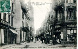 N°77074 -cpa Coutances -rues Tancrède Et Saint Nicolas- - Coutances