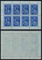 EUROPA CEPT - ALBANIE / 1966 BLOC DE 8 VIGNETTES DE PROPAGANDE ANTI EUROPE ** / RARE (ref 2740b) - 1966