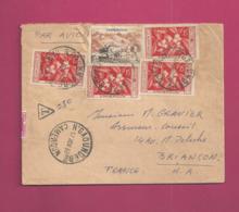Lettre Taxée De 1959 Pour La France - YT N° 300 Et 304 X 3 - Taxe YT N° 85 En Bande De 6 - Cameroun (1915-1959)