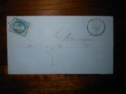Fragment Lettre GC 1356 Ducey Manche - 1849-1876: Période Classique