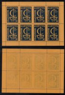 EUROPA CEPT - ALBANIE / 1966 BLOC DE 8 VIGNETTES DE PROPAGANDE ANTI EUROPE ** / RARE (ref 2740a) - 1966