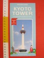 Z.08 JAPAN GIAPPONE DEPLIANT TURISMO 2019 - KYOTO TOWER - ENGLISH LANGUAGE - Dépliants Turistici