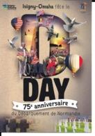 75 ANNIVERSAIRE DEBARQUEMENT NORMANDIE - D DAY - ISIGNY - OMAHA BEACH - 6 Juin 1944 - 2019 - Guerre 1939-45