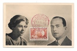 1938 GREECE ATHENS ROYAL WEDDING PRINCE PAUL PRINCESS FREDERIKA MAXICARD ROYAL FAMILY FAMILLE ROYALE RARE!!! - Grecia