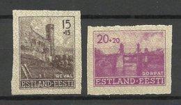 Estland Estonia 1941 German Occupation Michel 4 - 5 U * - Estland