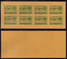 EUROPA CEPT - ALBANIE / 1968 BLOC DE 8 VIGNETTES DE PROPAGANDE ANTI EUROPE ** / RARE (ref 2638) - Europa-CEPT