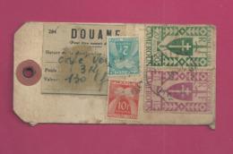 Etiquette Taxée Pour La France - YT N° 255 Et 262 - Taxe YT N° 82 Et 86 - Cameroun (1915-1959)
