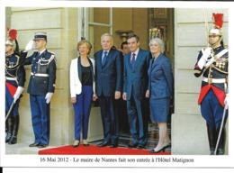 MAI 2012 - JEAN MARC AYRAULT - FRANCOIS FILLON - PREMIER MINISTRE HOTEL MATIGNON - PARIS - MAIRE NANTES - Partis Politiques & élections