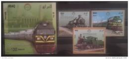 Iraq 2010 MNH Complete Set + S/S - Anniv Of Iraqi Railways - Trains - Irak