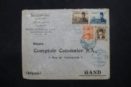 EGYPTE - Enveloppe Commerciale De Alexandria Pour Bruxellesen 1949, Affranchissement Plaisant - L 43738 - Lettres & Documents
