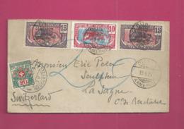 Lettre Taxée De 1921 Pour La Suisse - YT N° 71 Et 70 X 2 - Taxation Suisse YT N° 47 - Cameroun (1915-1959)