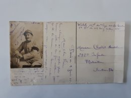 Carte D'un Militaire De Paris Du 282eme Infanterie Mitrailleur Secteur 34 .... Lot33 . - 1914-18
