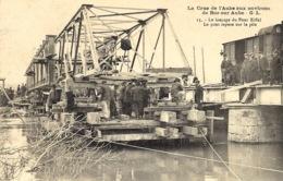 La Crue De L'Aube Aux Environs De Bar-sur-Aube - 15- Le Lançage Du Pont Eiffel - Le Pont Repose Sur La Pile -ed. G L - Bar-sur-Aube