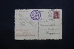 EGYPTE - Affranchissement De Héliopolis Sur Carte Postale Pour Gand En 1949 Avec Cachet De Contrôle Postal - L 43752 - Lettres & Documents