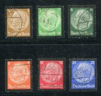 Deutsches Reich / 1934 / Mi. 548-553 O (0238) - Usados