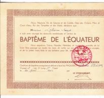 Baptême De L'Equateur - Collections