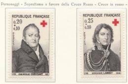 PIA  - FRANCIA  -  1964  : A Profitto Della Croce Rossa -  Personaggi Celebri  - (Yv  1433-34) - First Aid