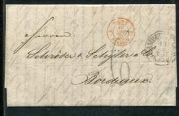 Hamburg / 1863 / Transitbrief K1 HAMBURG Nach Bordeaux (0246) - Cartas