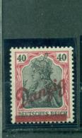Danzig Auf Germania, Nr. 38 A Postfrisch **geprüft BPP - Dantzig