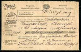 Schweiz / 1891 / Vordruck-Charge-Nachnahme-Brief Ex Basel (0253) - 1882-1906 Wappen, Stehende Helvetia & UPU