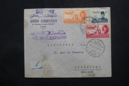 EGYPTE - Enveloppe Commerciale Du Caire Pour Bruxelles En 1948 , Affranchissement Plaisant - L 43762 - Lettres & Documents