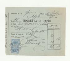 BOLLETTA DAZIO Vendita Alimentari PRIMA GUERRA MONDIALE - Forno Di Zoldo - BL - Italia