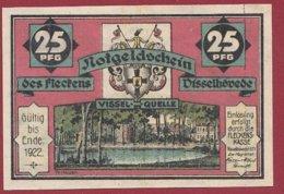 Allemagne 1 Notgeld De 25 Pfenning Stadt Visselhövede  Dans L 'état N °4831 - Collections