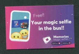 """Carte Publicitaire Bus """"Open Tour Paris / Memories Magic Selfies"""" - Otros"""