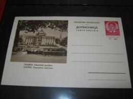 Yugoslavia (Kroatien), Stationery Zagreb,Umjetnički Paviljon,braun(3 Ed.) - Ganzsachen