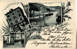 CROATIE CROATIA RAGUSA Gruss Aus ... 1900 Superbe Litho Multivues - Croatia