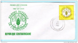 ZENTRALAFRIKA CENTRAFRICAINE CENTRAL AFRICAN FDC 788 Welternährungstag (Scan)(16662) - Centrafricaine (République)