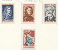 PIA - FRANCIA - 1965  : Celebrità Francesi. Sovrattassa A Favore Della Croce Rossa  -  (Yv 1442-45) - First Aid