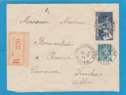 LETTRE RECOMMANDÉE DE FRANCHESSE,1943. - Frankreich