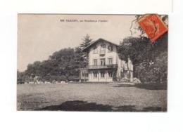 Sur CPA De Marigny Vendée Pour Fontenay Le Comte Cachet Ambulant Chantonnay à Vouvant 1917. (3308) - Poste Ferroviaire