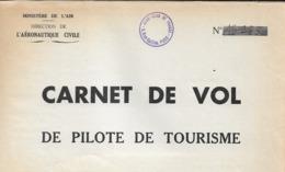 CARNET DE VOL  1938  à  1940       AERONAUTIQUE CIVILE ET AVIATION MILITAIRE   +   CERTIFICAT DE VISITE   (  9 SCANS  ) - Brevetti Di Volo