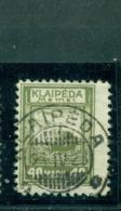Memel Auf Klaipeda-Marke, Nr. 151 Gestempelt, Geprüft BPP - Memelgebiet