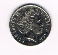 //   AUSTRALIE   10 CENTS  2006 - Monnaie Décimale (1966-...)