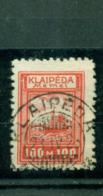 Memel Auf Klaipeda-Marke, Nr. 154 Gestempelt, Geprüft BPP - Memelgebiet