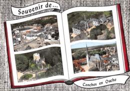 Souvenir De ... CONCHES-en-OUCHE - L'Hôpital - Le Donjon Et L'Eglise - Livre Ouvert - Conches-en-Ouche