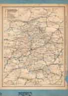 2 Cartes Télégraphique Téléphonique Des Chemins De Fer Dépt 72 SARTHE 73 SAVOIE Année 1936 Collée Recto Verso - Europe