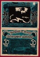 Allemagne 1 Notgeld De 50 Pfenning  Stadt Lichtenstein/ Callnberg (RARE)  Dans L 'état N °4853 - Collections