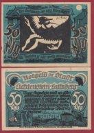 Allemagne 1 Notgeld De 50 Pfenning  Stadt Lichtenstein/ Callnberg (RARE)  Dans L 'état N °4854 - Collections