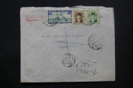 EGYPTE - Enveloppe Commerciale En Recommandé Du Caire Pour Londres En 1941 , Affranchissement Plaisant - L 43786 - Lettres & Documents